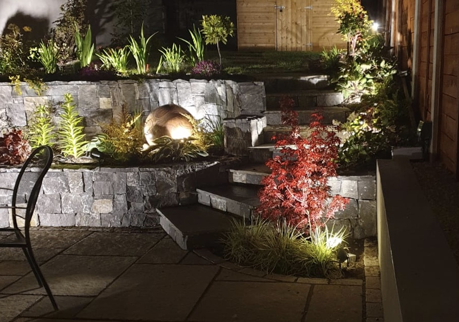 Water Feature at Night