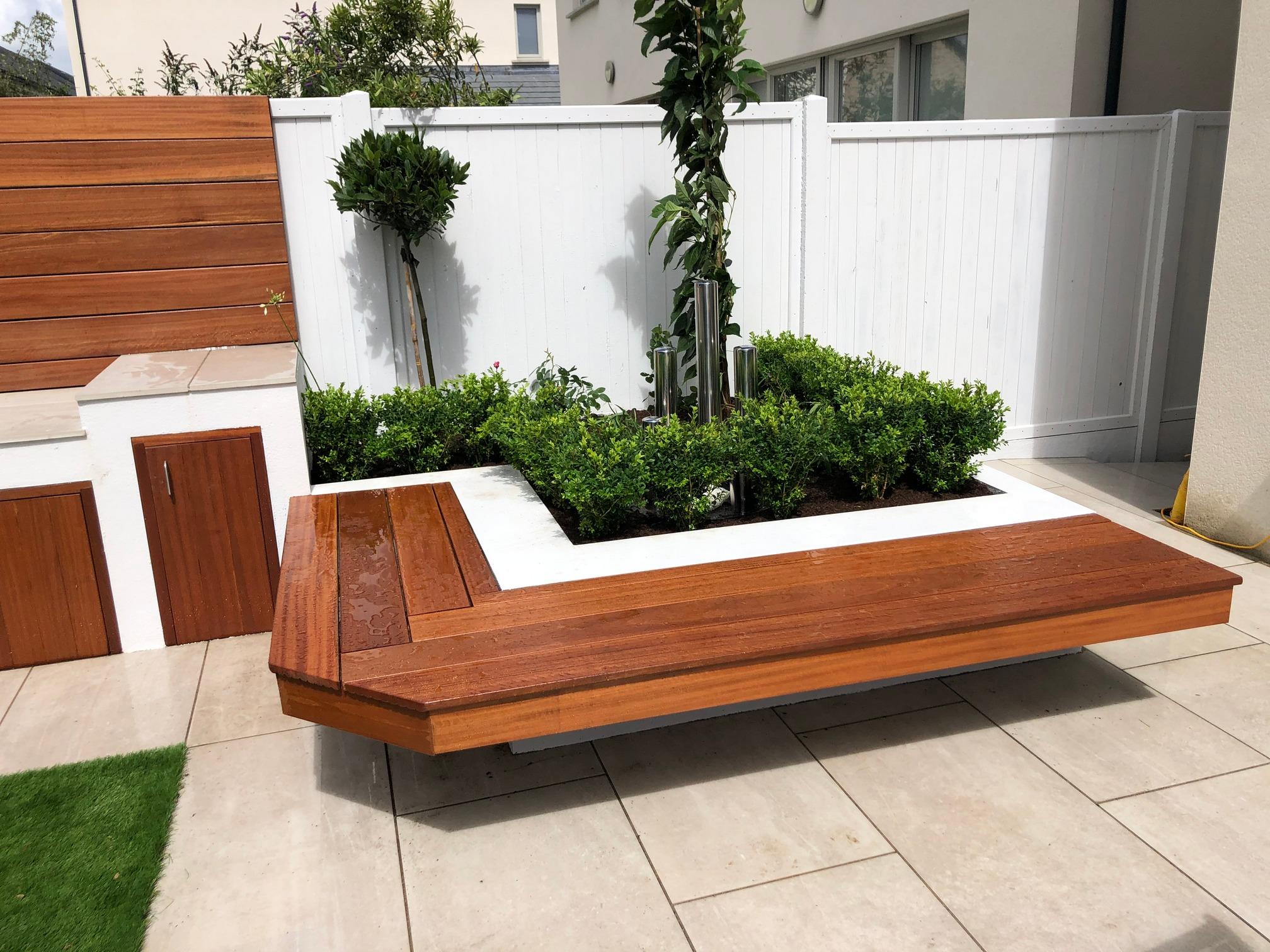Built in Garden Bench