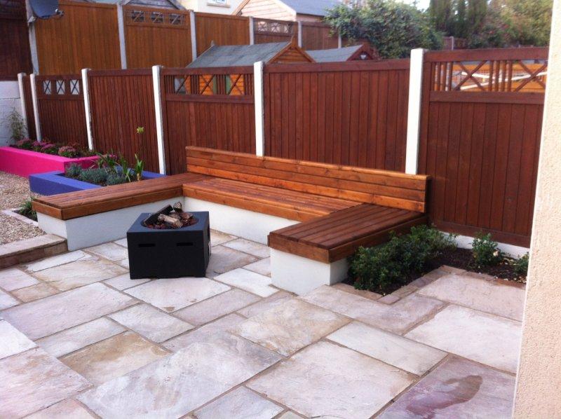Built in Garden Seat