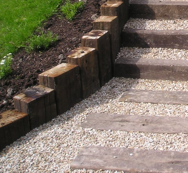Garden Steps Made From Railway Sleepers. Garden Design Ideas Inspiration Advice For All Styles Of