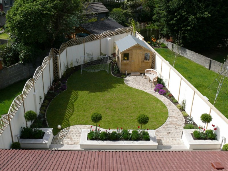 triangular garden design garden designs ideas - Garden Design Ideas