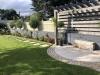 Cobble Circle, Pergola and Stepping Stone Path