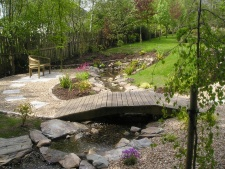 Garden Pond, Stream & Bridge