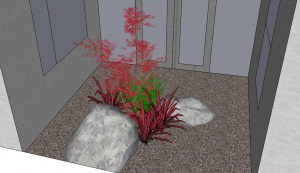 Rock & Plant Feature