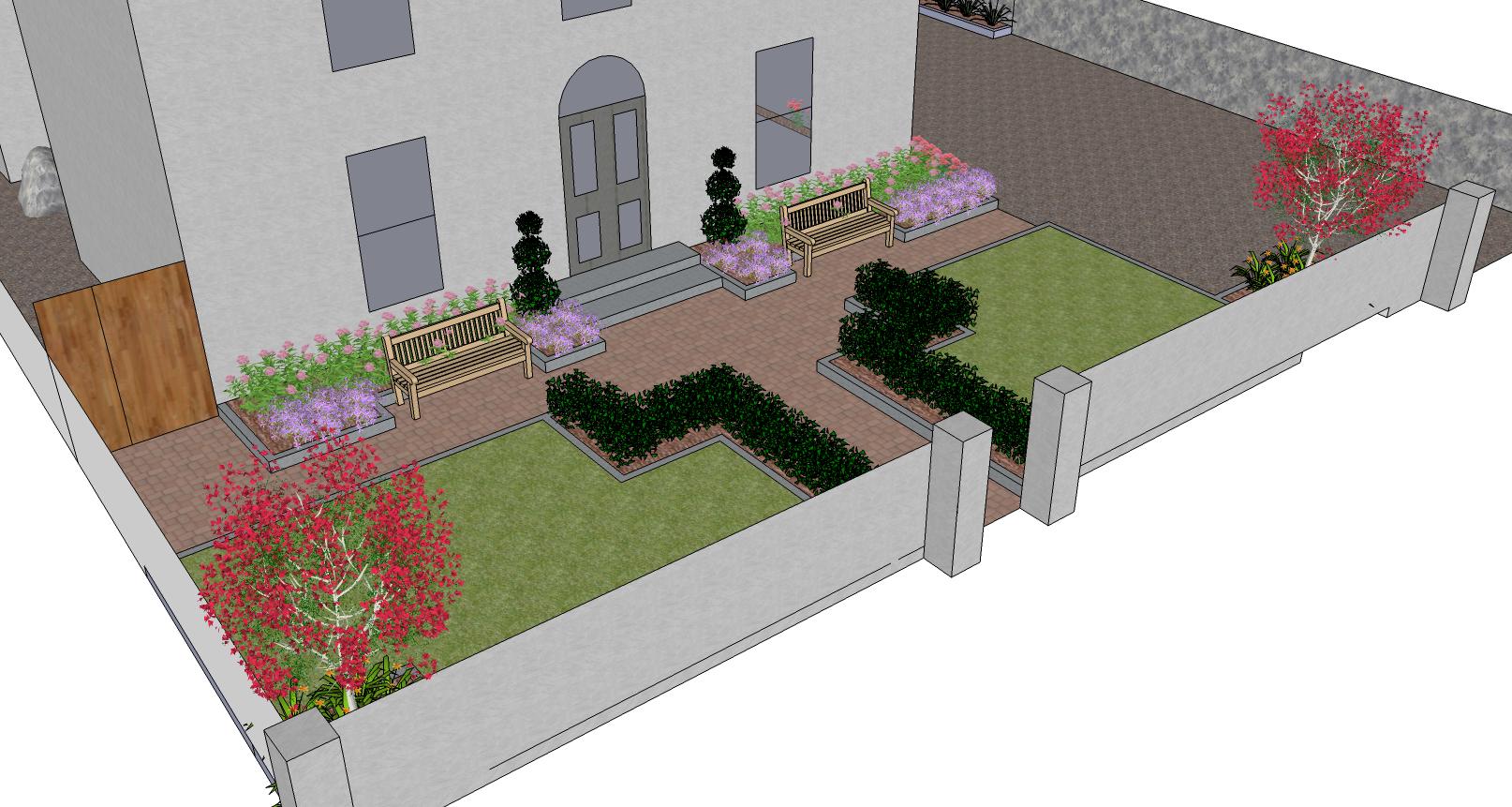 Front garden design by garden design dublin for Garden design dublin