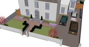Front Garden Visualisation with Car Parking