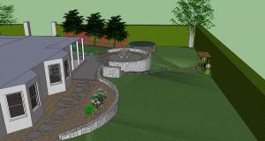 Sloping Lawn Garden Design