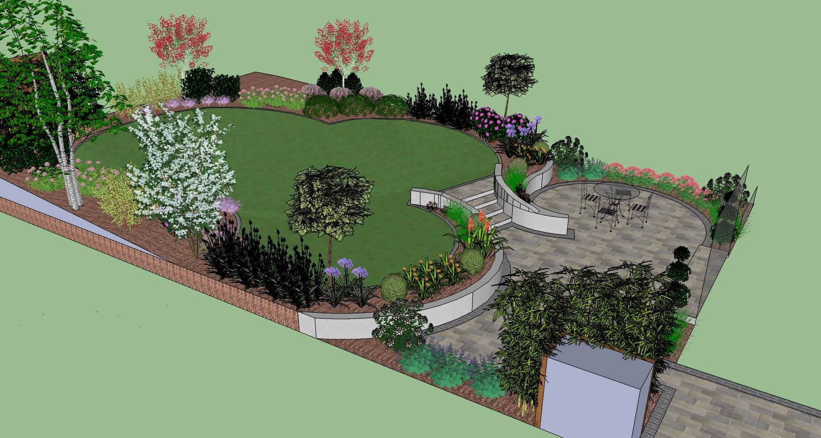 Back garden design with a contemporary twist construction for Garden design dublin