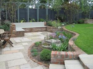 New Garden Design with built in Seats
