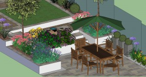 Main Patio of new Garden Design