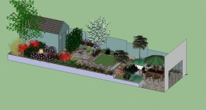 Visualisation Small Garden Design