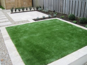 Lawn made from artificial grass