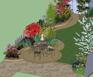 Garden Design for a Rectangular Garden