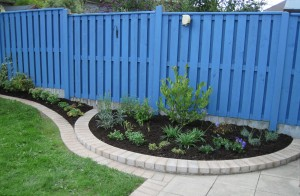 New Border to right of Garden with Semi Circular Bed
