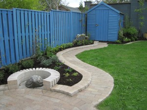 Garden Design with a Touch of Blue!