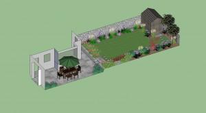 Rectangular Garden Design