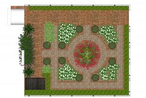 Formal Parterre Front Garden