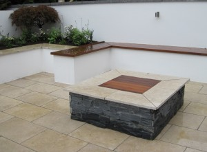 Fire Pit with Built in Seating