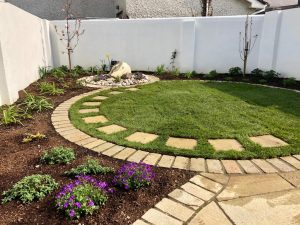 Lawn with Stepping Stone Path