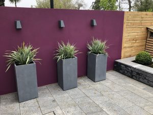 Feature Garden Aubergine Wall