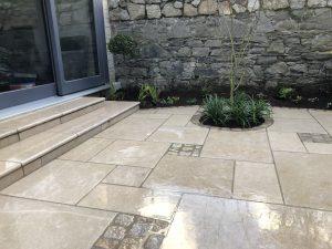 Wide Garden Steps